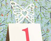 Wedding Table Numbers Butterfly 1 to 25