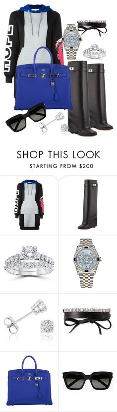 """""""Sunday Funday"""" by styledbytammy on Polyvore featuring Moschino, Givenchy, Bliss Diamond, Rolex, Amanda Rose Collection, Fallon, Hermès and Yves Saint Laurent"""