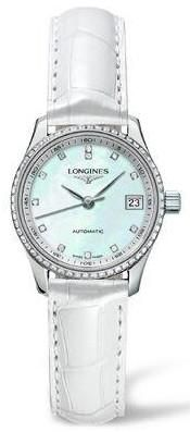 Longines Watch Master Collection Ladies #bezel-fixed #bracelet-strap-alligator #brand-longines #buckle-type-tang-type-buckle #case-depth-9mm #case-material-steel #case-width-25-5mm #date-yes #delivery-timescale-1-2-weeks #description-done #dial-colour-white #discount-code-allow #gender-ladies #l21280873 #luxury #movement-automatic #official-stockist-for-longines-watches #packaging-longines-watch-packaging #subcat-master-collection #supplier-model-no-l2-128-0-87-3