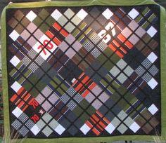 Custom memorial quilt made from men's clothing.  The Quilt Studio of Elmhurst, IL