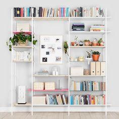 Dyi casa, string shelf, bookcase styling, home decor inspiration, white she Styling Bookshelves, Room Decor, Decor, House Interior, Home, Interior, Shelving, Home Decor, Room