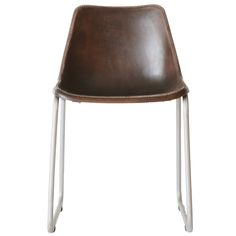 Moulded Leather Chair - Dark Brown For Sale