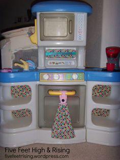 Plastic Play Kitchen Makeover