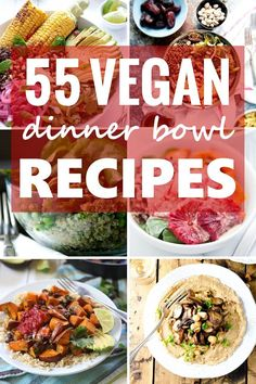 Just about everything is more fun (and easy) when eaten in bowl form! From deconstructed burritos and sushi rolls, to clean-out-the-fridge dinners, there's a reason bowls have become hugely popular. Here's 55 delicious, healthy and easy vegan bowl recipes that demonstrate why. Try one for dinner tonight!
