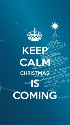 #KEEP #CALM #Christmas! The #iPhone iOS7 Retina #Wallpaper I like!