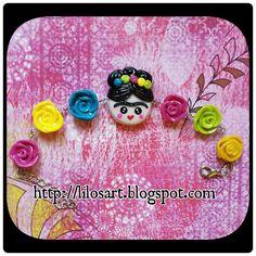 Frida Kahlo Bracelet - Frida Kahlo Pulcera #polymerclay #handmade #clay…