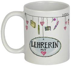 Mugs & Mugs - Teacher Farewell Gift - a unique product by Tassen-Ges . Mug Crafts, Farewell Gifts, Teacher Gifts, Letters, Mugs, Etsy, Tableware, Unique, Graduation Regalia