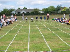 School sports day! Remembering the sack race, egg and spoon race and the 3-legged race....