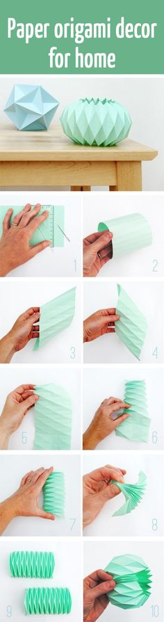 Paper origami decor  for home tutorial