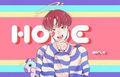 Jung Hoseok, Pop Posters, Fanart, Blackpink And Bts, Line Friends, Bts Chibi, Bts Fans, Jimin Jungkook, Bts J Hope