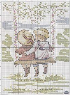 Boy Girl Swing  1 of 2.  #31 - 2 - Fleur55555