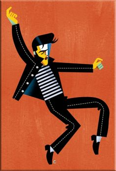 Elvis Presley: Jailhouse Rock by David Cowles #art #illustration (Caricature) http://dunway.com