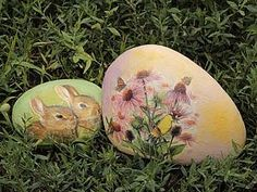 Декупаж Камней. Идея декора для сада   Ярмарка Мастеров - ручная работа, handmade