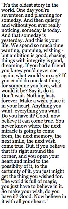 The last dialogue from the last episode from OTH... Perfect Ending<3