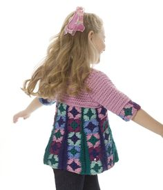 Just Plain Fun Granny Square Chic Child's Top: free pattern