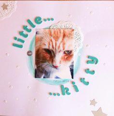 Little Kitty Layout #scrapbooking