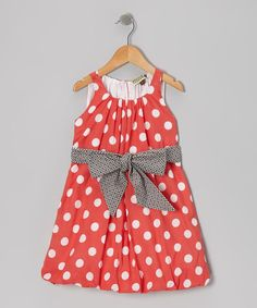 Love this Sophie Catalou Red Polka Dot Bubble Dress - Girls by Sophie Catalou on #zulily! #zulilyfinds