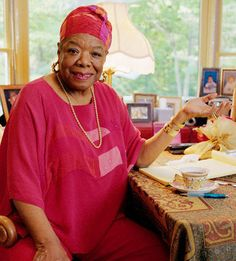 Dr. Maya Angelou....An Alpha Kappa Alpha Sorority member.