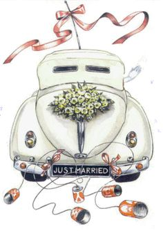 Photo of Just Married,Animated for fans of truespock. just married animated Wedding Images, Wedding Pictures, Wedding Cards, Wedding Gifts, Wedding Car Deco, Wedding Parties, Free Wedding, Wedding Illustration, Bird Embroidery