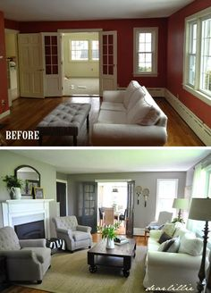 This is so close to what I want our house to look like! AND they tell you what all the paint colors are and where everything is from. Fantastic site!  | Dear Lillie: Jason's Full House Tour (Lots of Before and Afters) |