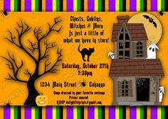 Halloween party kids invitation