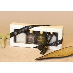 """Set Mignons """"Gesichtspflege"""". Diese Geschenkschachtel enthält 4 Mignon 25 ml:  • Reinigungsmilch  • Melonen Tonic  • Aloe Vera Gel mit Minze  • Papaya Peeling Duschcreme"""