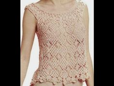 Tutorial Blusa y Top a Crochet, TODOS LOS TALLES (2 de 2) - YouTube