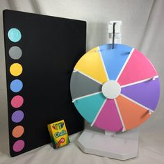 12 LuLaRoe 8 color prize wheel 17.5x12 Chalkboard prize board with matching…