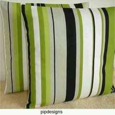 Throw pillows. Green is one of many FAV colors in our house.
