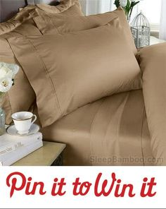 Win bamboo sheets by Sleepbamboo.com  To enter:  re-pin and follow us on Pinterest.Giveaway ends July 27th ....If you win! We will message you and post your url on social media, 7 days after contest closes  #bamboosheets #giveaway #contests #pintowin