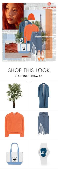 """wild flower..."" by ani-onni ❤ liked on Polyvore featuring Nearly Natural, Sandy Liang, Acne Studios and Zara"