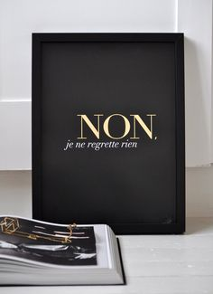 Non Je Ne Regrette Rien Black Small/ French door sarahandbendrix