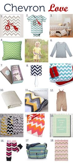 Chevron patterned goodies for kids