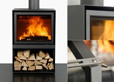 Not your grandmother's wood stove. A new generation of wood stoves offers high fuel efficiency, high combustion temperatures, and lower emissions. Houses In France, Framed Tv, Cooking Stove, Into The Woods, Stove Fireplace, Air B And B, Wood Burner, Cabins And Cottages, Modern Chairs