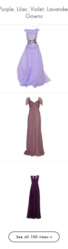 """""""Purple, Lilac, Violet, Lavander Gowns"""" by srta-sr ❤ liked on Polyvore featuring smrgowns, dresses, gowns, long dresses, 13. dresses., vestidos, purple evening gowns, purple tube dress, zuhair murad evening gowns and zuhair murad evening dresses"""