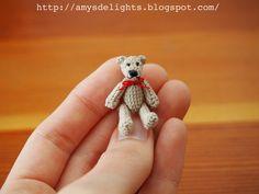 Miniature Crochet Teddy Bear