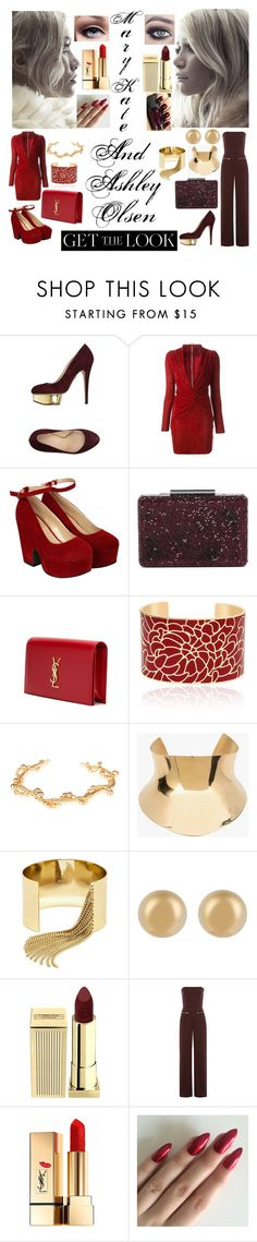 """""""Get the Look Mary-Kate And Ashley Olsen"""" by xcoordinatingfashionx ❤ liked on Polyvore featuring Charlotte Olympia, Olsen, Jitrois, Pilot, Natasha Accessories, Yves Saint Laurent, Paula Mendoza, Balmain, BaubleBar and J.W. Anderson"""