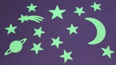 Glow in the dark stars. I had these on my ceiling :)