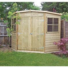 7 x 7 waltons tongue and groove wooden corner shed garden buildings tiny houses and house