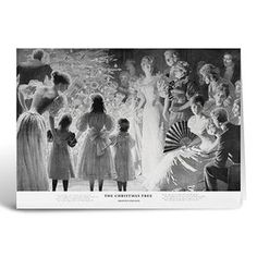 Pack of 6 Christmas cards - The Christmas tree, 1896