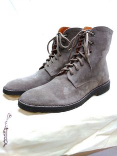 Santoni Mens Gray Suede ITALIAN MADE Boots 100% Authentic USA Seller Shiny Sepia | Clothing, Shoes & Accessories, Men's Shoes, Boots | eBay!