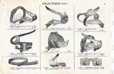 1908 vélos cycles anciens cale-pieds illustration publicité originale catalogue vente Rosfelder vintage français bicyclettes tour de france