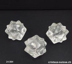Icosaèdre - Météorite - Cristal de Roche 2,5 cm