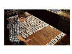 "From article: ""Storyboarding Your Research"" . Caption: ""Dustin Lance Black storyboarding a feature film using hundreds of index cards."""