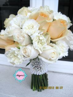 Champagne Wedding Bouquets | Flora by Shayra: Bridal Bouquet White + Champagne