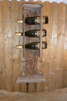 Barn Wood Crafts | old barn wood Wine Rack. $69.00, via Etsy.