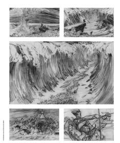 Cecil B. DeMille used epic staging and what was then state-of-the art special effects to show Moses parting the Red Sea in The Ten Commandments (1956), with an assist from storyboard artist Harold Michelson.
