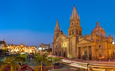 Guadalajara is the capital city of the central state of Jalisco in Mexico. It is also the second largest city in the country. It is considered a colonial city, though much of its architecture dates from the independence period. The Places Youll Go, Great Places, Beautiful Places, Places To Visit, Mexican American, Portugal, Holidays To Mexico, Affordable Vacations, Mexico Travel