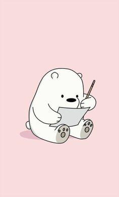 Cute We Bare Bears background Ice Bear Baby Wallpaper Hd, Cute Panda Wallpaper, Wallpaper Iphone Cute, Mobile Wallpaper, Ice Bear We Bare Bears, We Bear, Japon Illustration, Cute Illustration, Kawaii Drawings