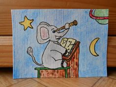 Cute animal painting  Elephant art  Harry by CuteCreationsByLea, $8.00